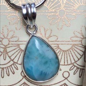 Sitara Collections Jewelry - Larimar Pendant Necklace